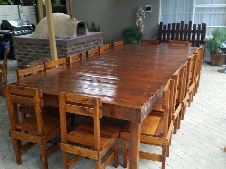 13 Perfect Wooden Pallet Dining Table Ideas | Pallet Wood ...