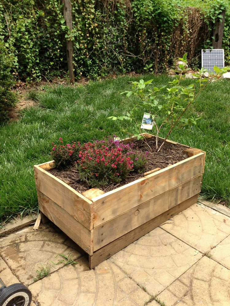 Planter boxes made from wooden pallets pallet wood projects for Garden planter plans