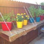 Pallet Made Garden Table
