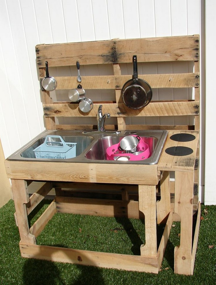 Recycled pallet wood outdoor kitchen pallet wood projects - Mobili di bancali ...