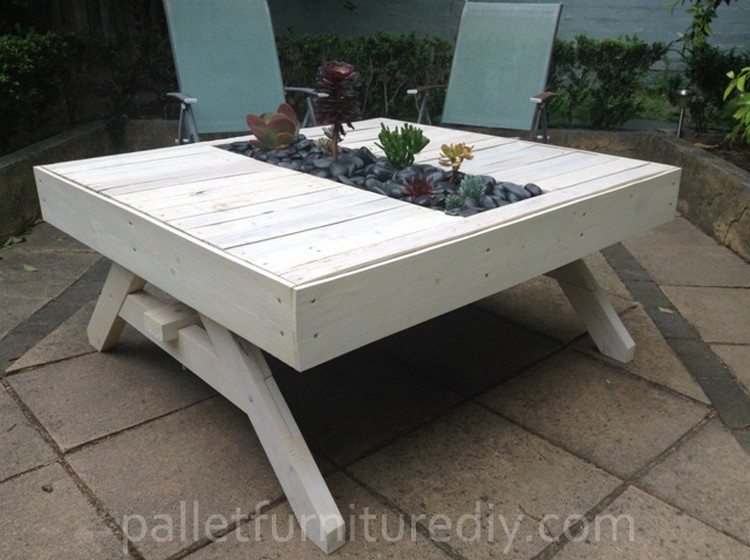 ... Pallet Outdoor Planter Table ...