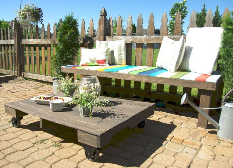 Pallet Patio Coffee Table