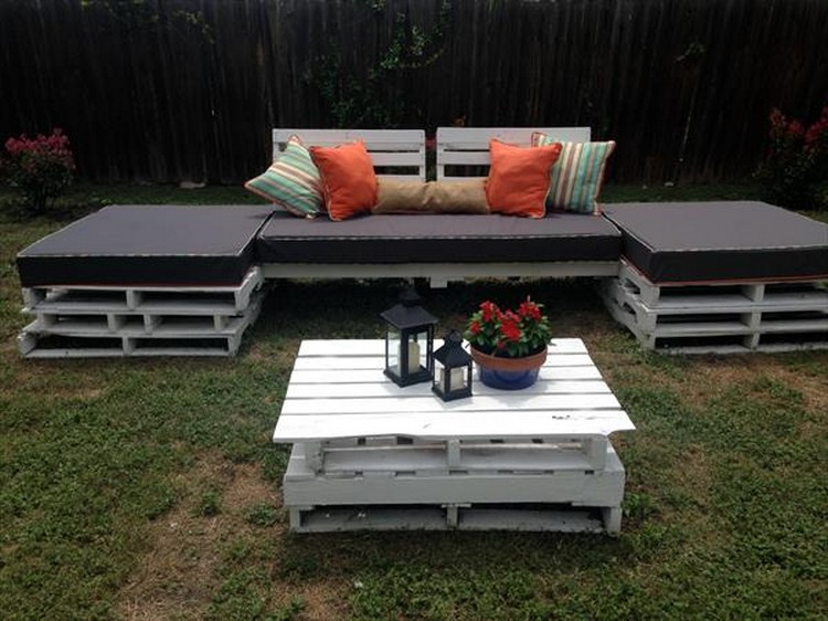 Outdoor Patio Furniture Made From Pallets patio furniture made out of pallets | pallet wood projects
