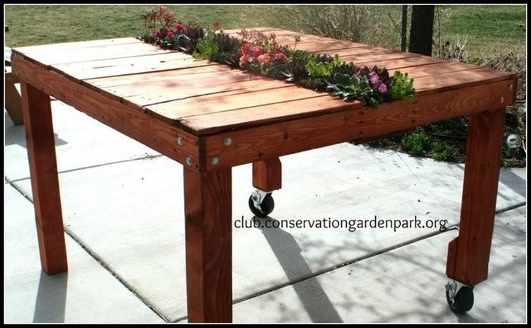 ... Planter Pallet Planter Table
