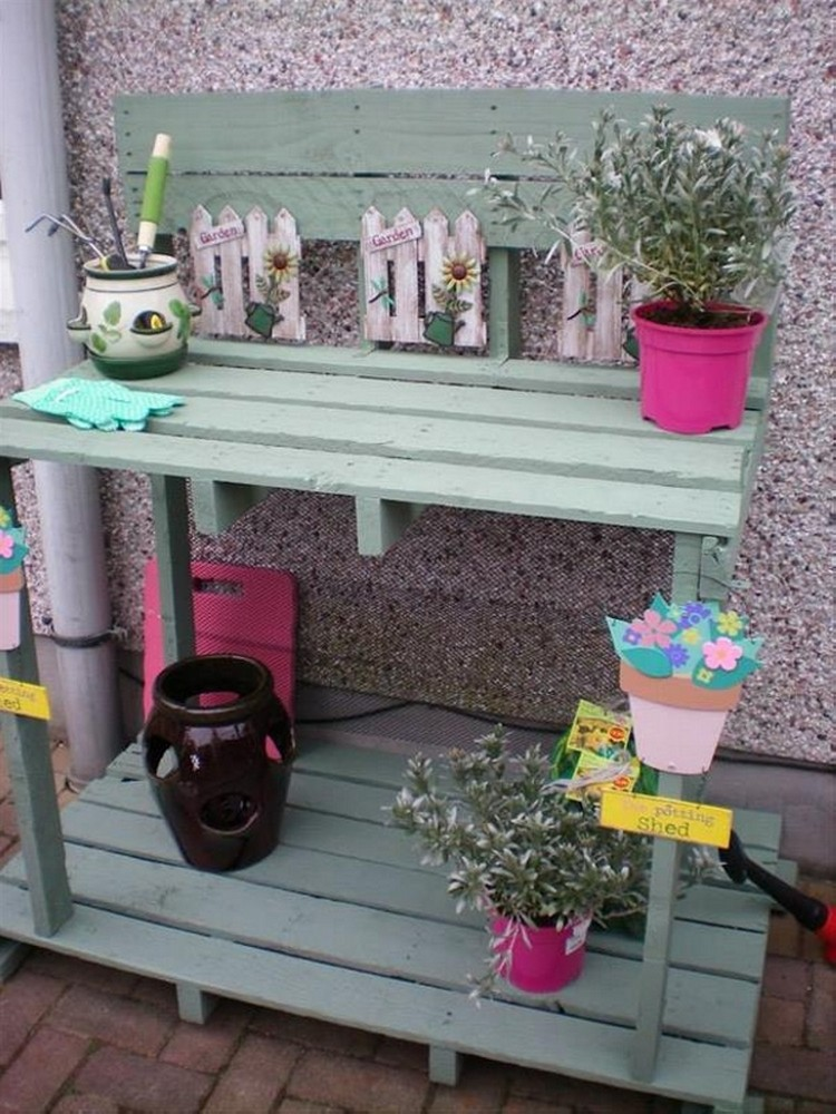 Pallet Potting Bench Ideas