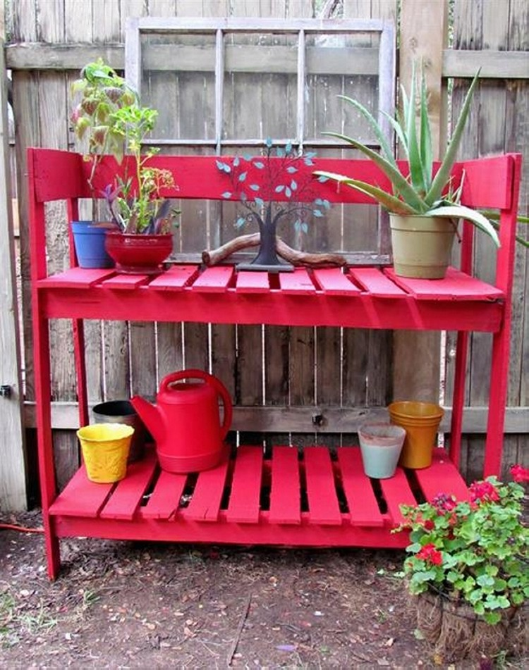 Pallet Potting Bench Plans | Pallet Wood Projects