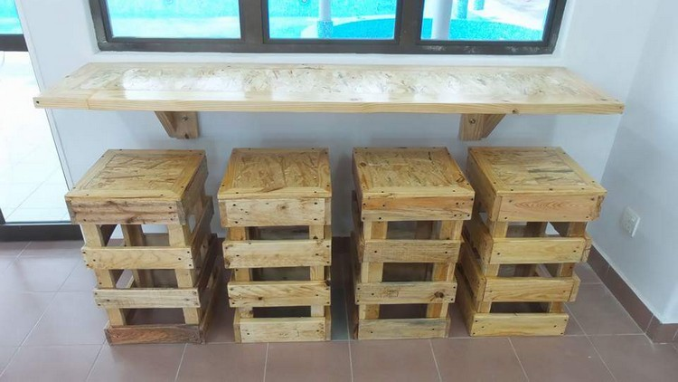 Wooden Pallet Stool Plans Wood Projects