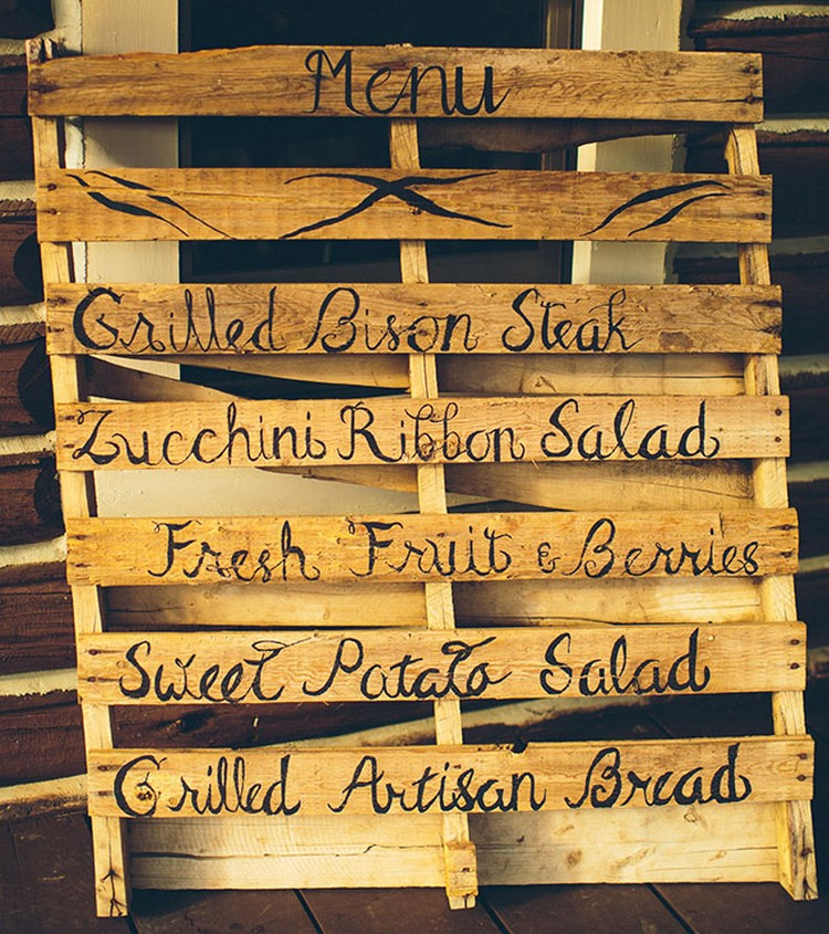 Pallet Wedding Menu Board