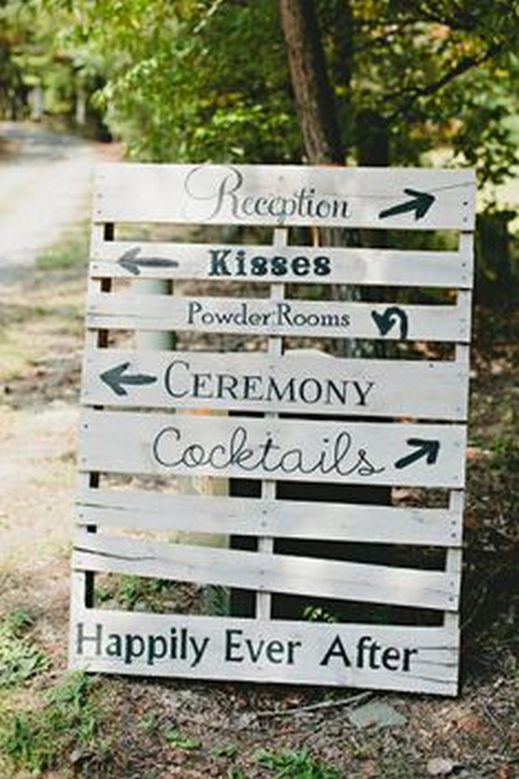 Pallet Wedding Sign Board