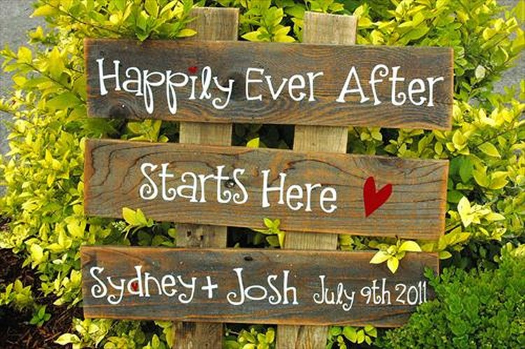 Pallet Wedding Sign Plans