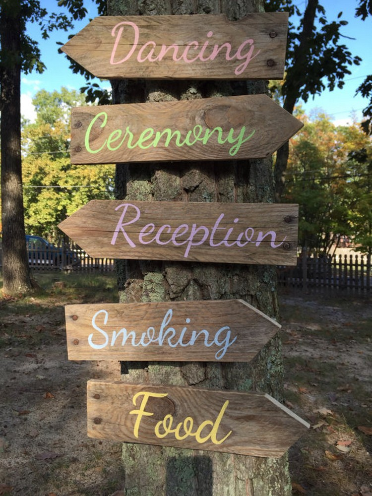 Pallet Wedding Signs