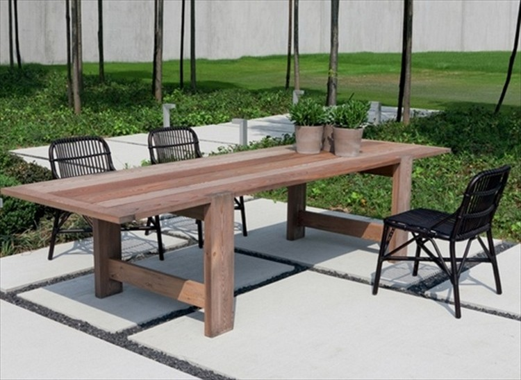 ... Pallet Wood Patio Dining Table ...