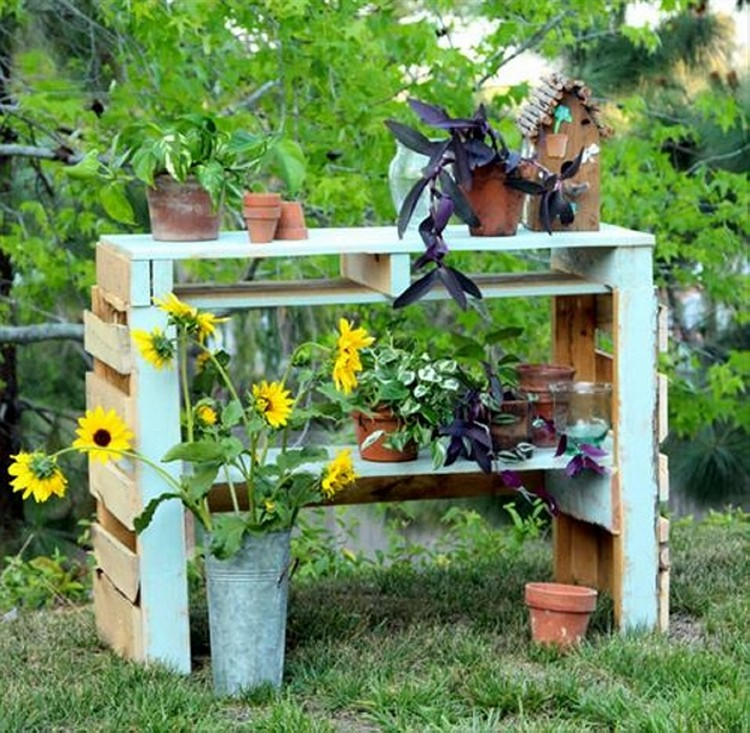 ... Pallet Potting Bench Plans. on outdoor pallet potting bench plans