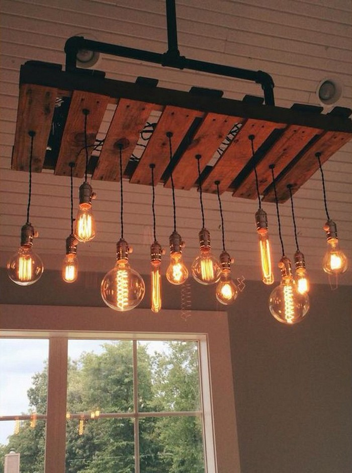 Chandeliers Made Out of Pallets | Pallet Wood Projects