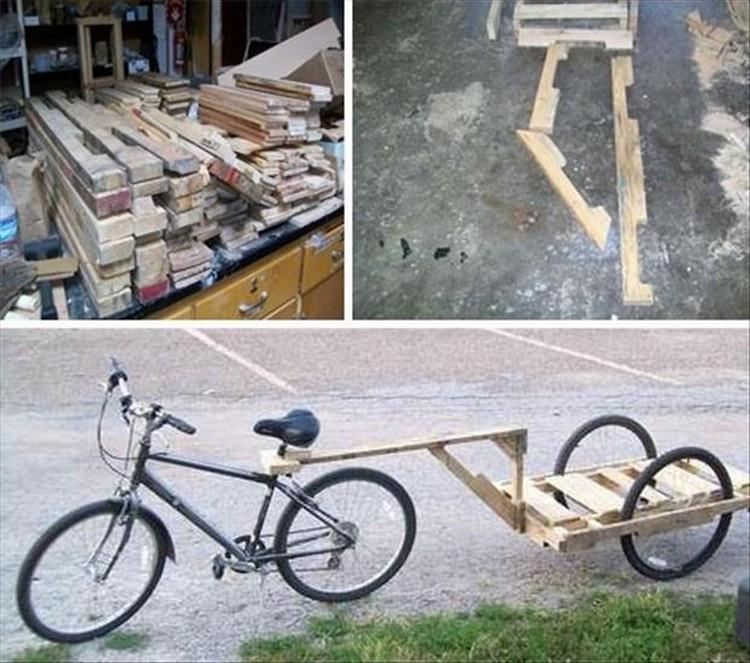 Pallets Bike Trailer