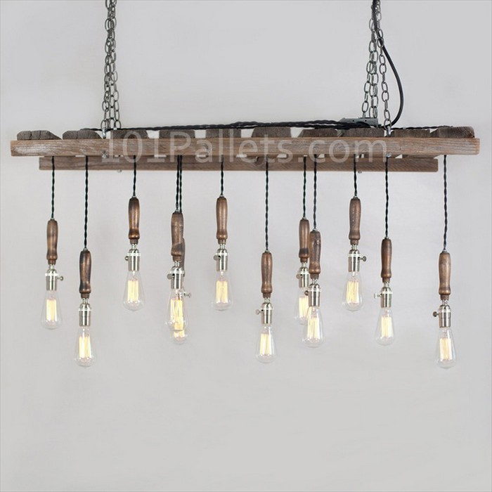 Chandeliers Made Out Of Pallets Pallet Wood Projects