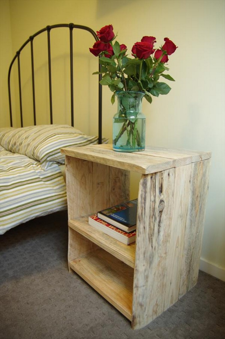 Pallet wood nightstand ideas pallet wood projects for Mesitas de noche hechas con palets