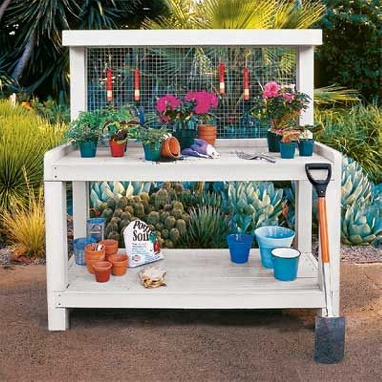 Pallet potting bench plans pallet wood projects Potting bench ideas