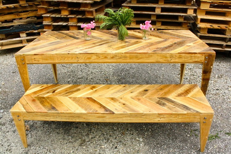Recycled Pallet Dining Tables Pallet Wood Projects