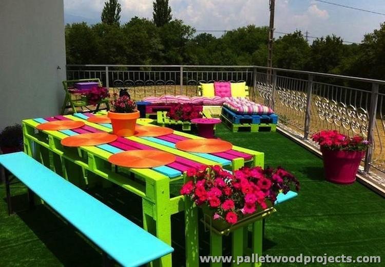 Cute Pallet Picnic Furniture