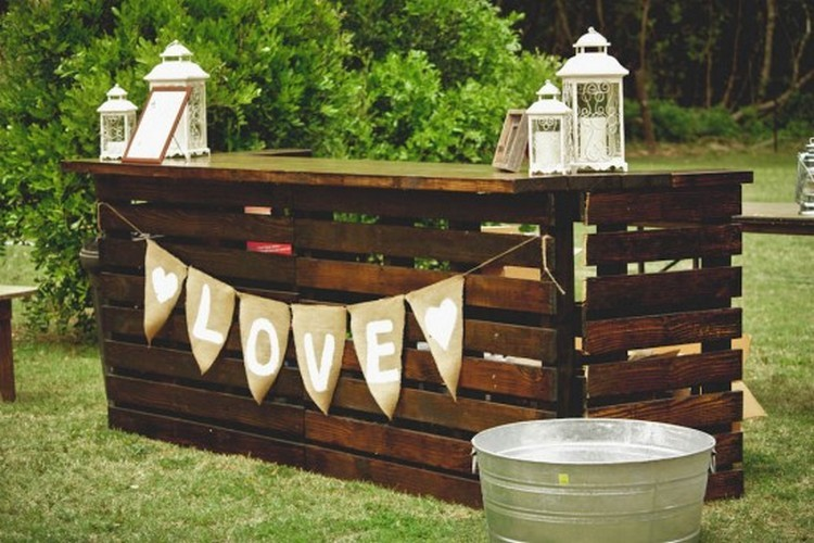 Recycled Pallet Wood Bar Ideas Projects