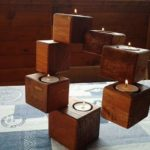 Pallet Blocks Candle Holders