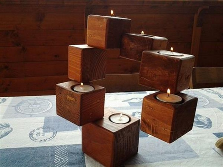 Pallet Wood Candle Holders | Pallet Wood Projects