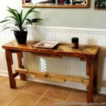 Pallet Chevron Style Console Table