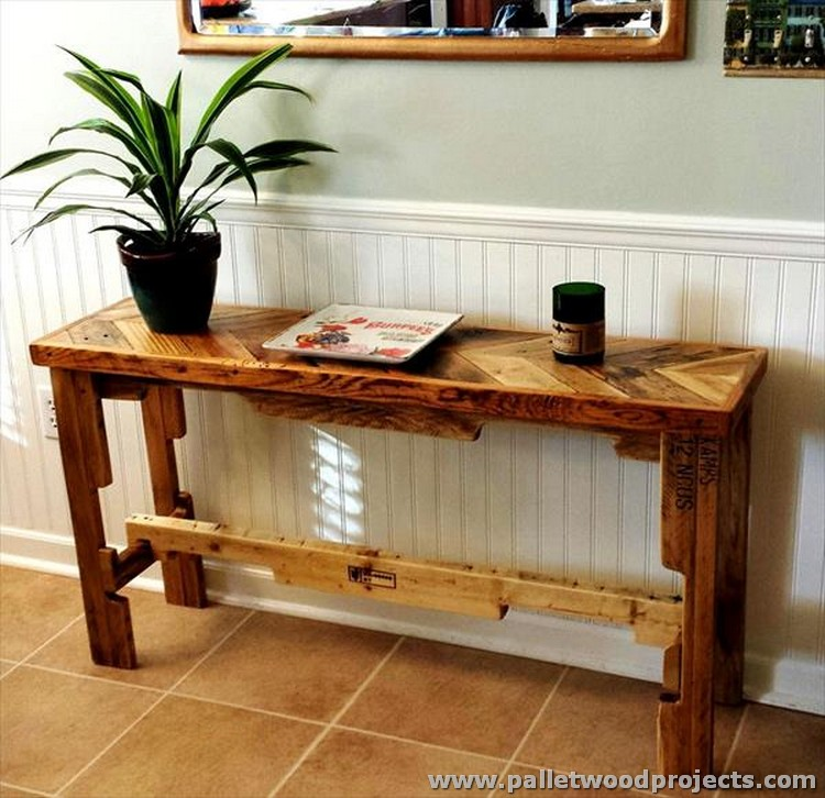 Pallet Console Table Plans | Pallet Wood Projects