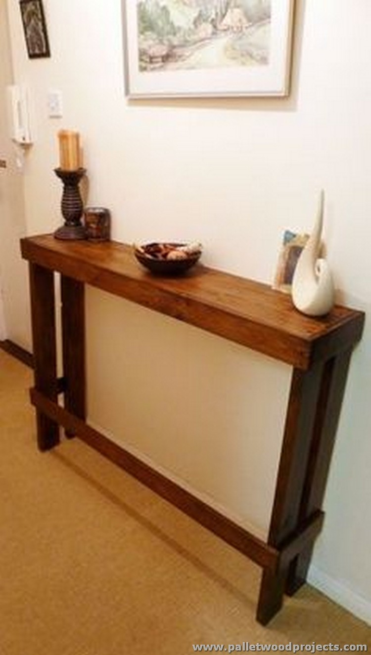 Pallet Entry Table Pallet Console Table Plans Pallet Wood Projects