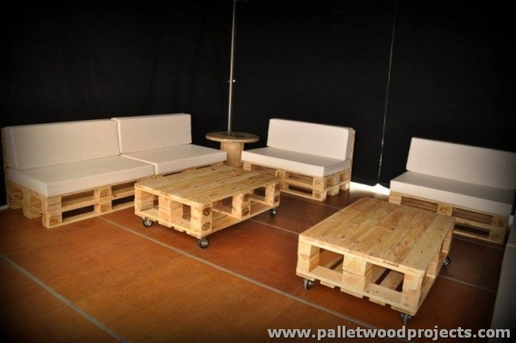 Pallet Couches with Tables