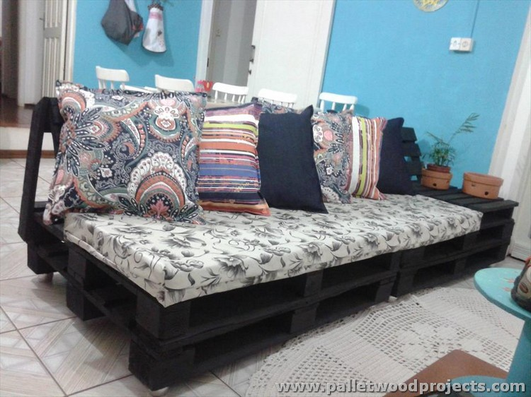 Pallet Cushioned Sofa