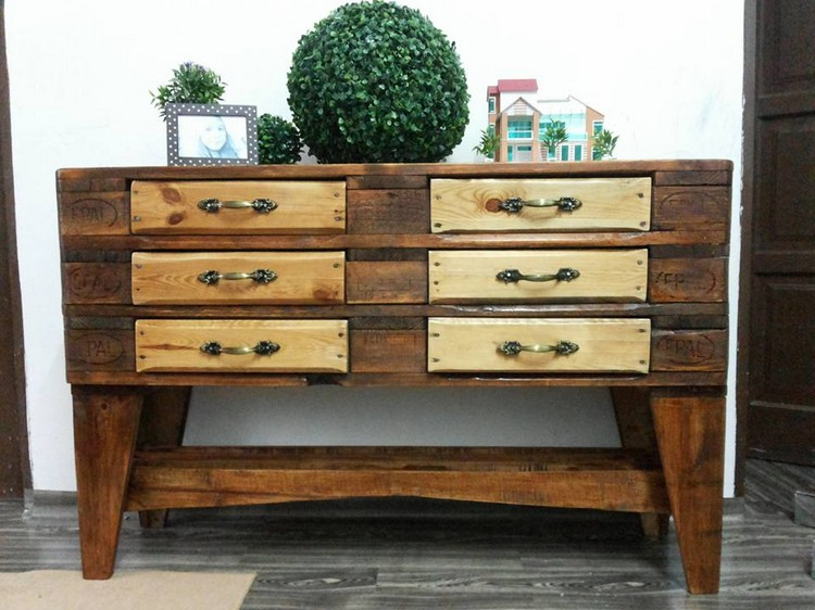 Pallet Dresser with Drawers or Media Console