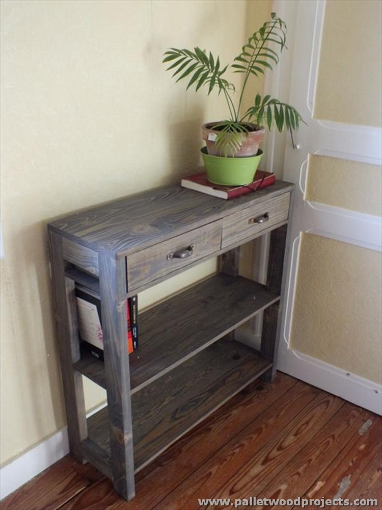 Pallet Console Table Plans Pallet Wood Projects