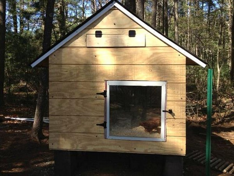 Pallet Made Chicken Coop