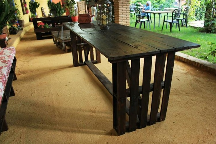 Pallet Made Dining Table