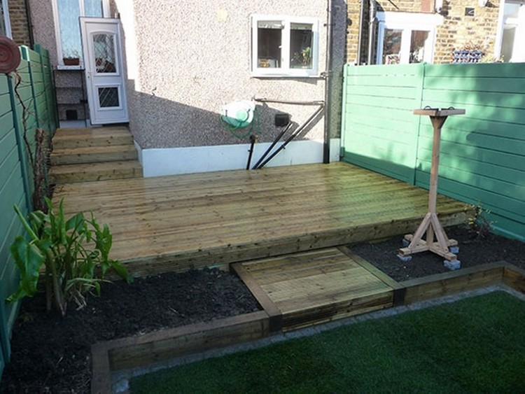 Pallet Made Garden Deck