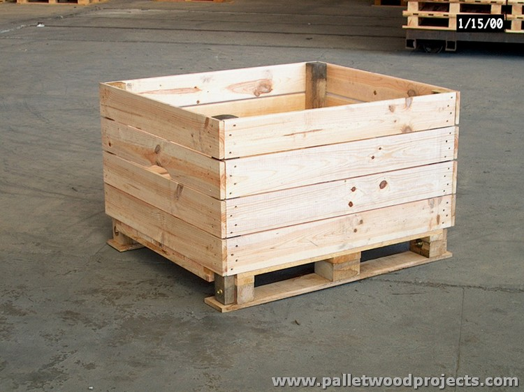 Recycled Pallet Storage Box Ideas | Pallet Wood Projects