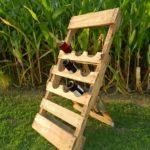 Pallet Outdoor Wine Rack