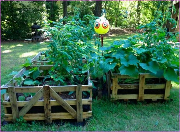 Pallet Raised Garden Bed