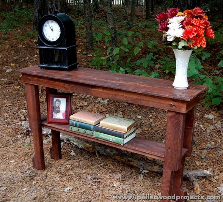 Pallet console table plans wood projects