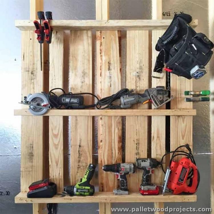 Pallet Tool Organizer Idea