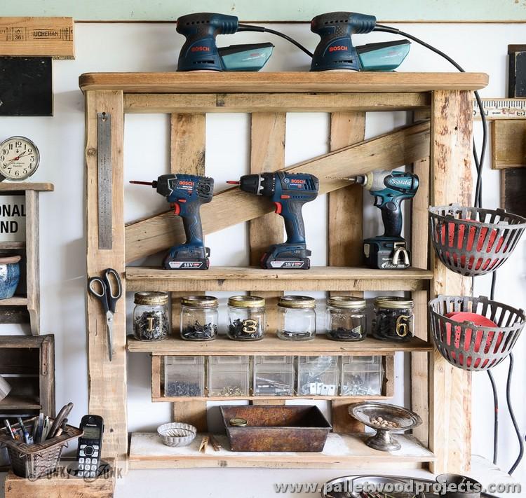 Pallet Tool Shelf