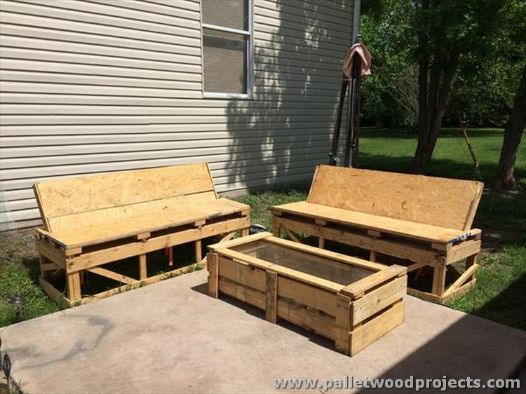 Furniture Made From Pallets Plans patio furniture made from wood pallets - home design ideas and