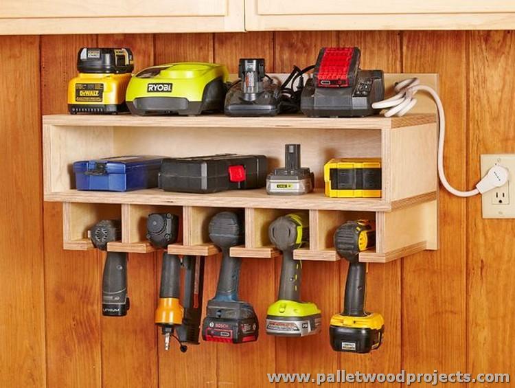 Pallet Wood Tool Rack
