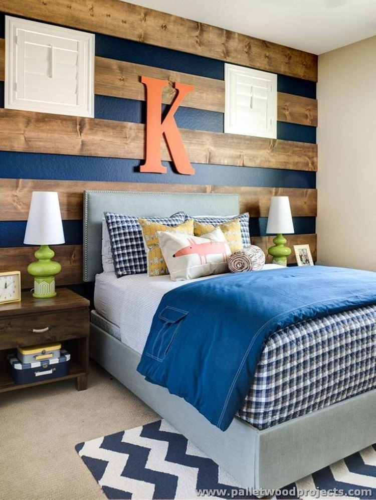 Pallet Wood Wall Ideas