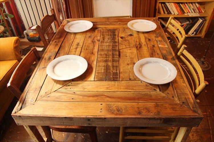 Pallet Wooden Dining Table