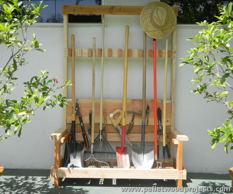 Pallet Wooden Tool Rack