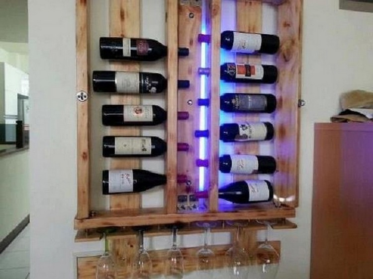 Wine racks made out of pallets pallet wood projects for Decoracion en paletas de madera