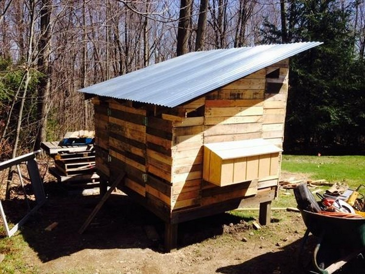 Chicken coops made out of pallets pallet wood projects Chicken coop from pallet wood